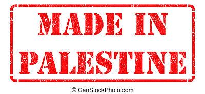 hecho, palestina, rojo, estampilla