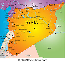 Syria map - Vector color map of Syria