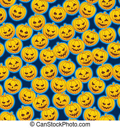 Pumpkins - Seamless pattern of pumpkins