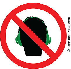 Don`t use Headphones sign icon. Vector,eps10 - Don`t use...