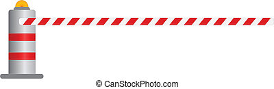 road barrier vector illustration , vector eps10