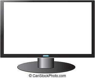 HDTV TV with white screen