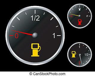 Car's fuel gauge