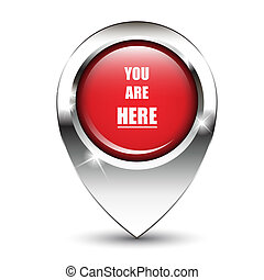 You are here pin