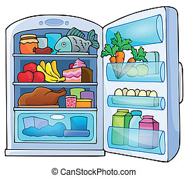Image with fridge theme 1 - eps10 vector illustration