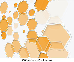 Abstract hexagon s design template - vector illustration