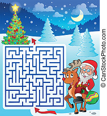 Maze 3 with Santa Claus and deer
