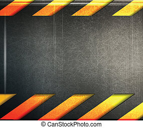 abstract metal danger background - vector illustration