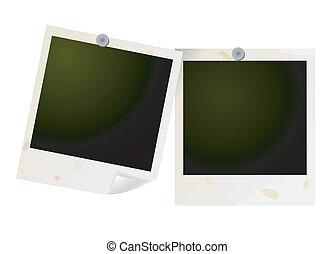 Blank photos. Vector - two blank photos. Vector
