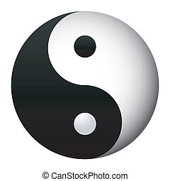 yin and yang, - taoist sign