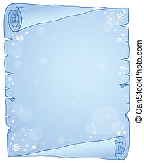 Winter theme parchment 1 - eps10 vector illustration