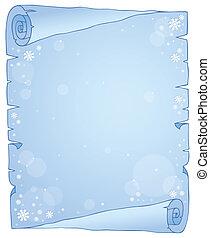 Winter theme parchment 1