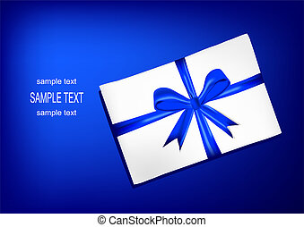 envelope with blue ribbon