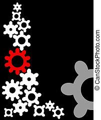 Various cogwheels, industrial - Various cogwheels, vector,...