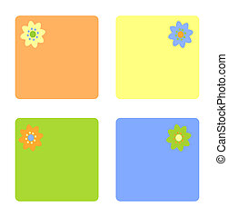 Vector cards with flower