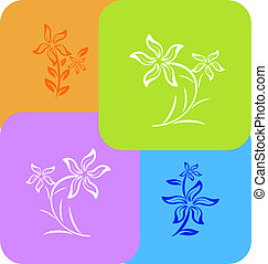flower background different