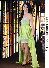 Happy Homecoming Teen - A beautiful teen girl happy in her...