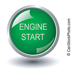 Engine start web buttons, vector