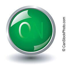 green power button icon