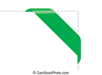 paper with green ribbon