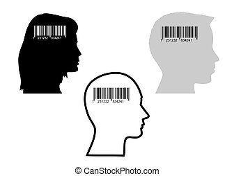 bar-code and heads