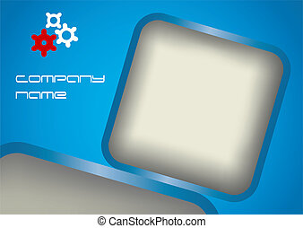 Blue abstract background, vector illustration with and copy...