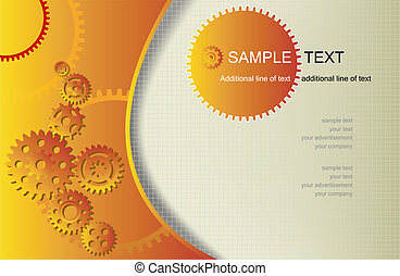 vector abstract background with gear whels and copy space
