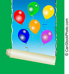 colourful party balloons - Six colourful party balloons...