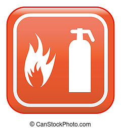 Fire extinguisher, vector sign
