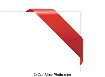 paper with red ribbon