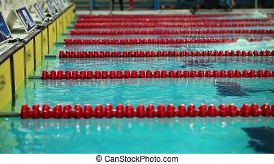 Freestyle swimming turn - swimming competition close to turn