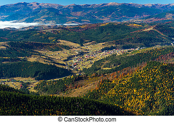 Mountains - Autumn mountain landscape in the highlands in...