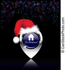 Home for Christmas pin
