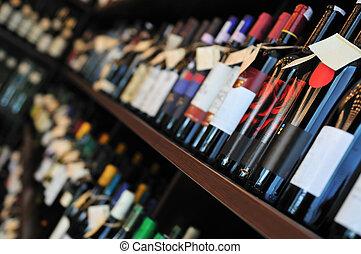 Bottle of wine in shop