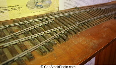 Model railroad rails and sleepers.