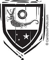 Heraldic Shield Crocodile