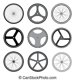 BICYCLE WHEEL Vector and Illustration