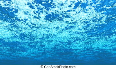 Abstract underwater background - Computer generated abstract...