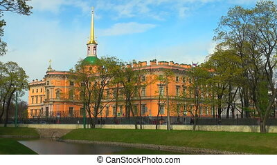 The Mikhailovsky castle in St. Petersburg
