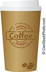 A coffee cup vector illustration, eps10.