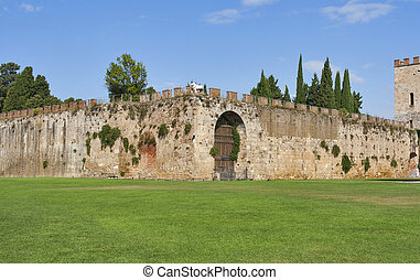 Pisa, Tuscany, Italy. New city walls.