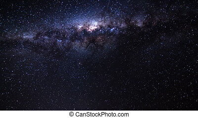 milky way moving across the sky