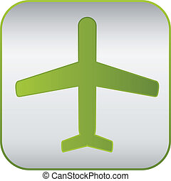 modern plane sign, vector icon.