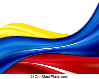 Colombia flag - Colombia waves flag, yellow, blue and red...