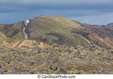 Landmannalaugar unbelievable lava landscape, Iceland -...