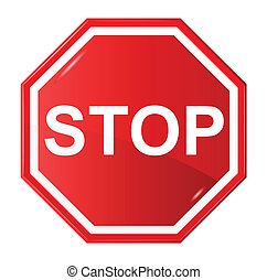 Sign stop - sign stop, vector