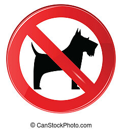 No dogs sign, vector, eps 10, gradient.