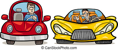 malicious driver cartoon illustration - Cartoon Illustration...