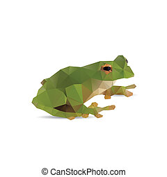 Frog abstract isolated on a white backgrounds