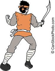 Pirate man - Creative design of pirate man